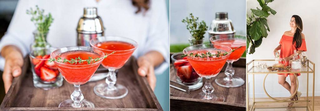 Summer Thyme Gin Cocktails created by Jules Aron, The Healthy Bartender