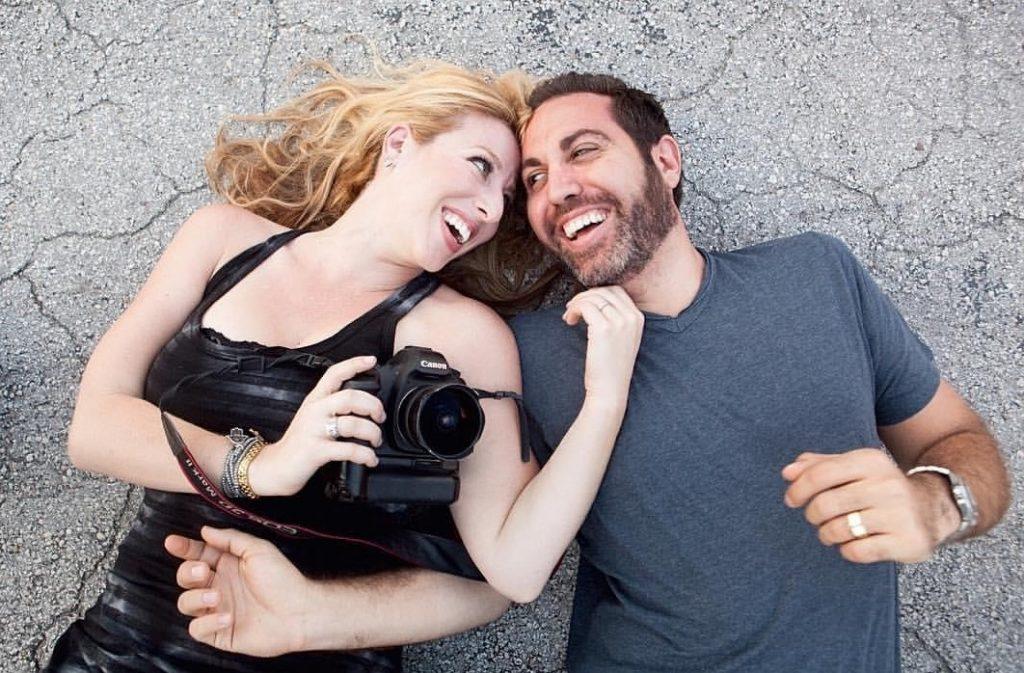Emily Harris and husband Aaron now do virtual newborn photography