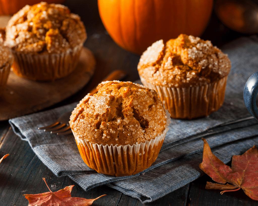 pumpkin muffins for fall