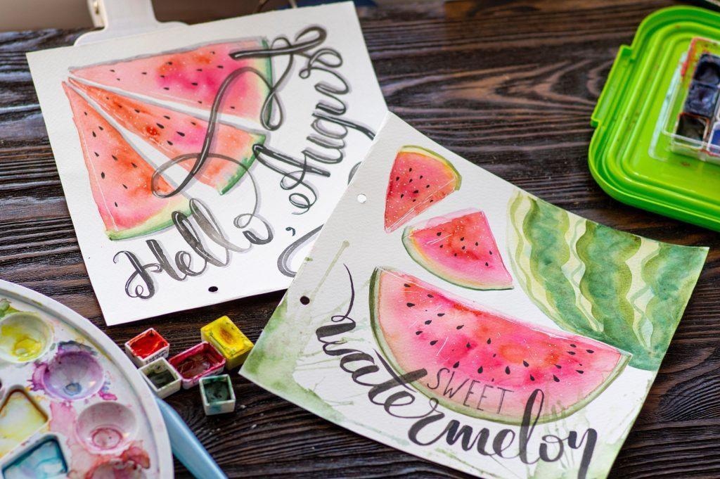good bye summer, hello watermelon plates