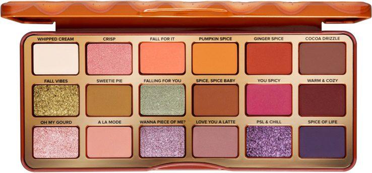pumpkin spice fall eye shadow palette