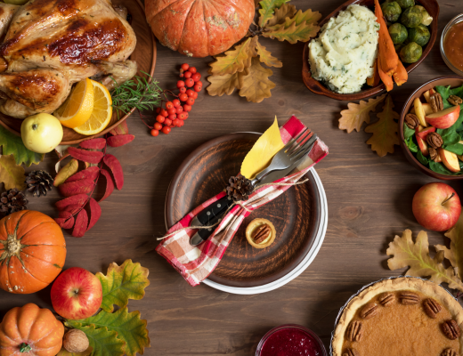 fall pumpkin spice table setting