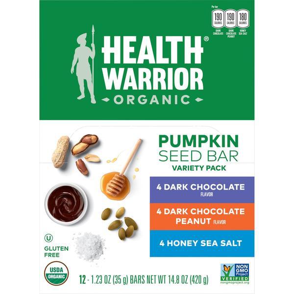 health warrior pumpkin seed bars have health benefits