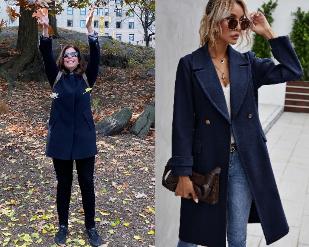 navy pea coats