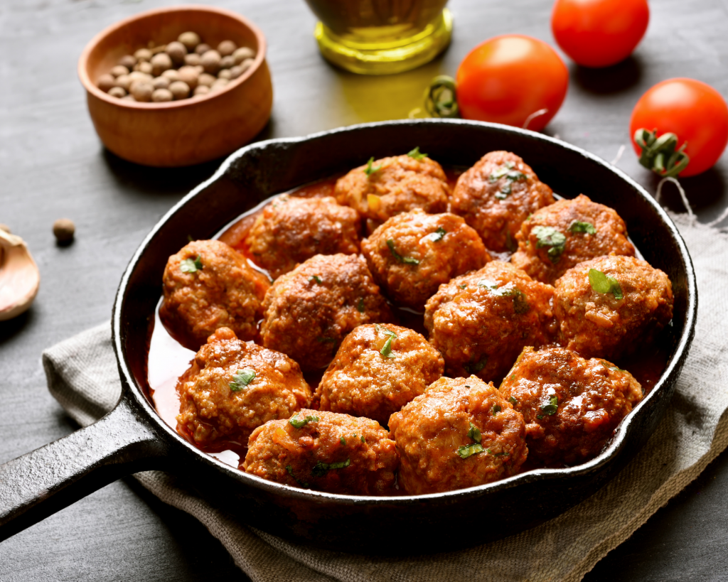 chicken and spinach healthy meatballs