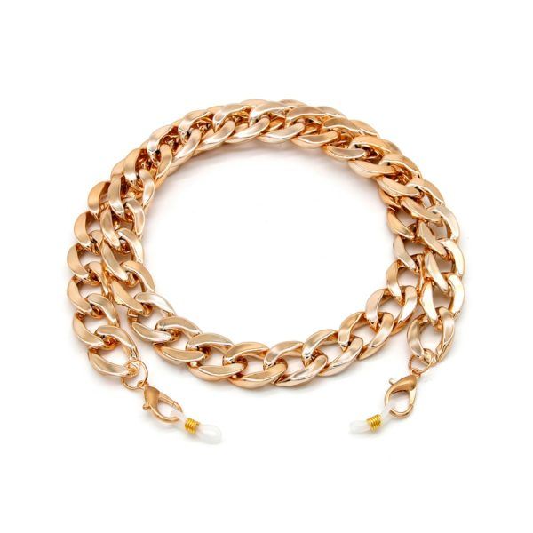 Gold Acrylic Chain for Face Mask