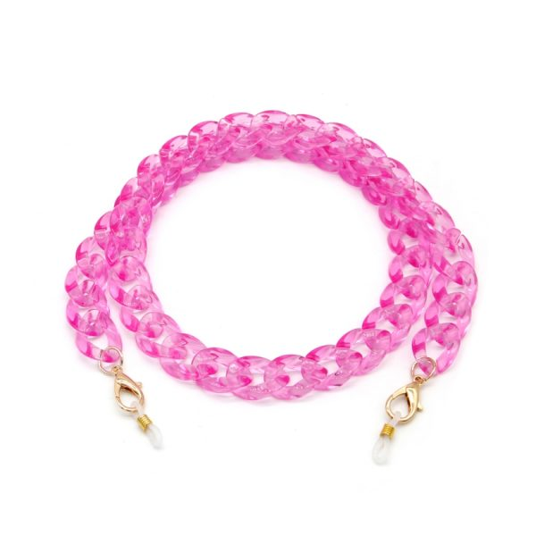 Pink Acrylic Material Chain for Face Mask