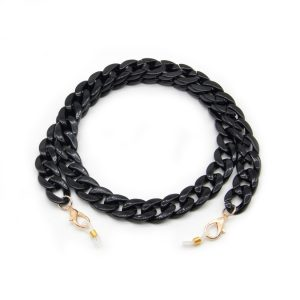 Black Acrylic Material Chain for Face Mask