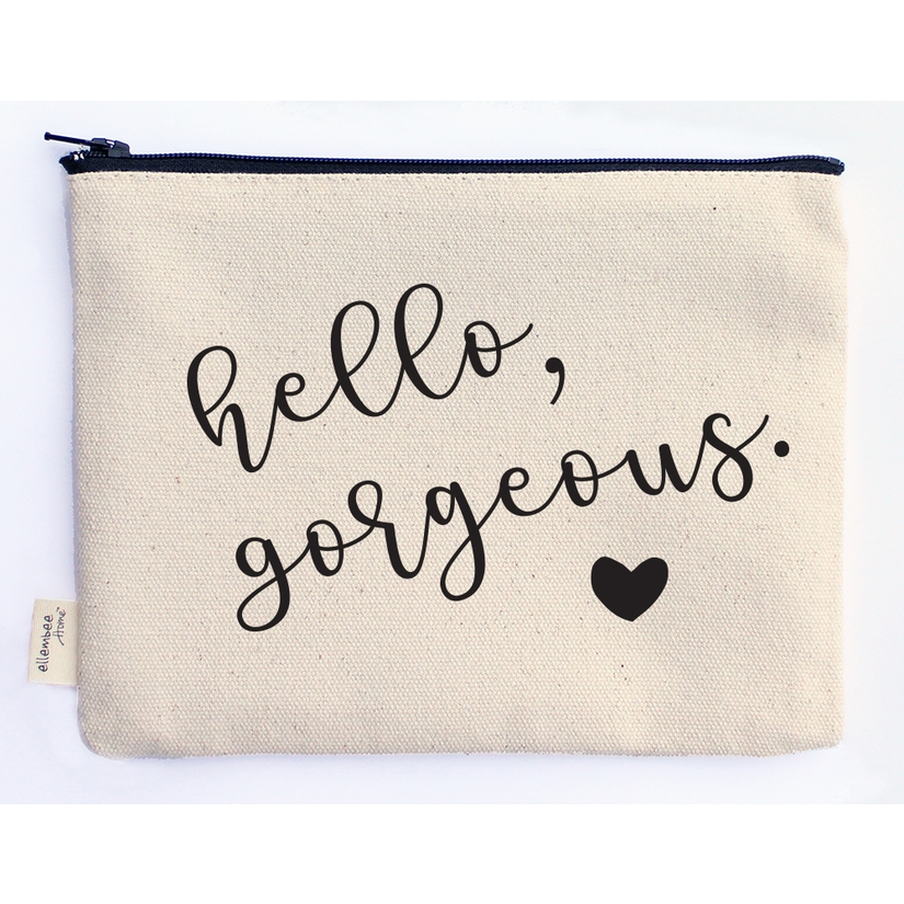 Hello gorgeous zipper pouch-gwenliveswell.com