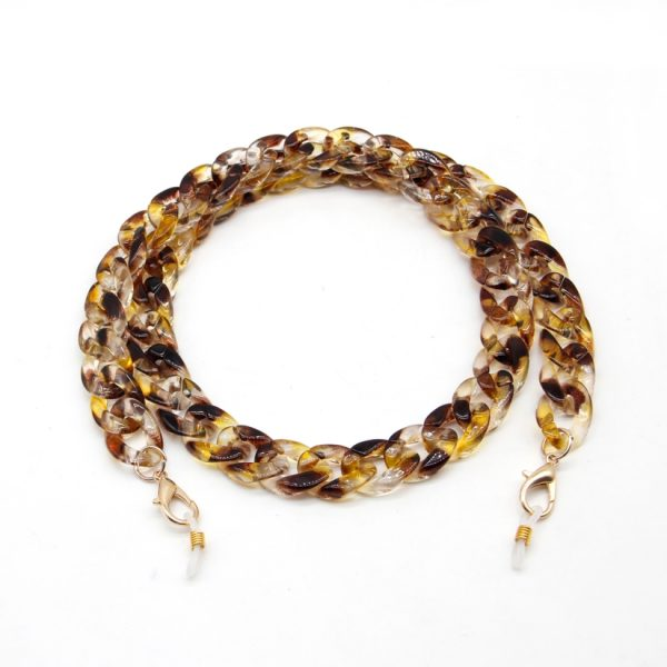 Tortoise Acrylic Chain for Face Mask