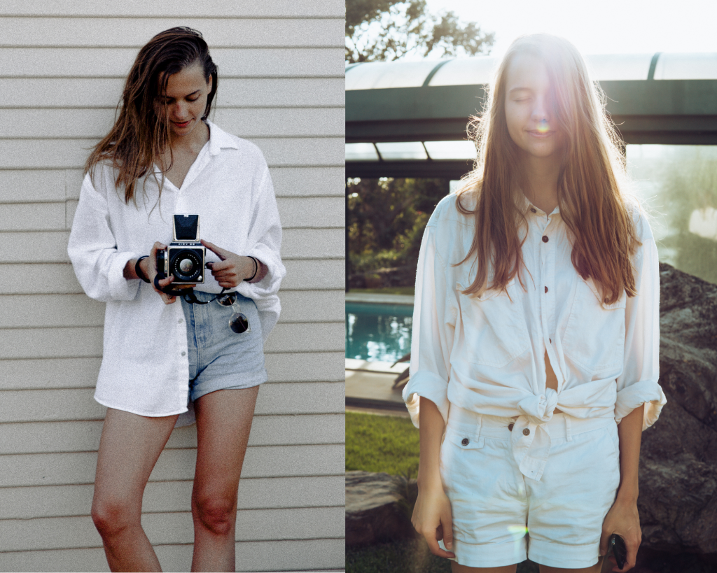 Button-ups with shorts