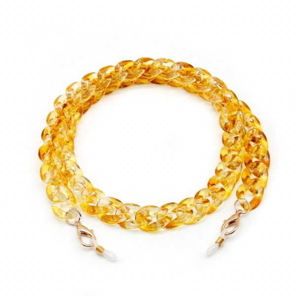 Yellow Acrylic Chain for Face Mask