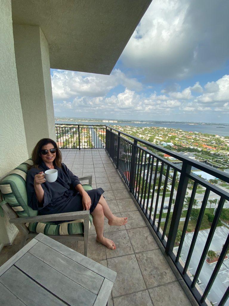 balcony at the resort